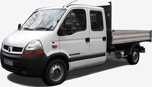 Camion-benne Rossenbat qui evacue les gravats a Paris